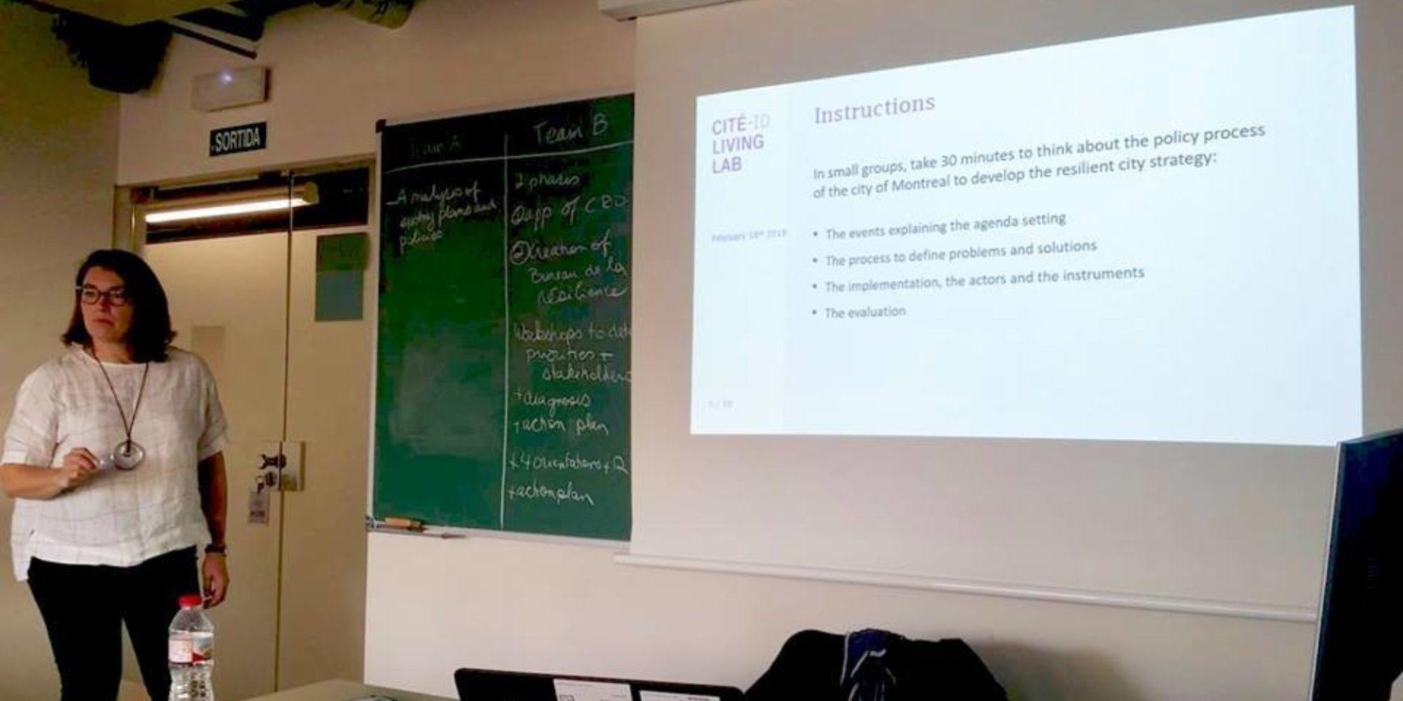 "Présentation du cours ""Policies, governance and urban resilience"" à Barcelone"